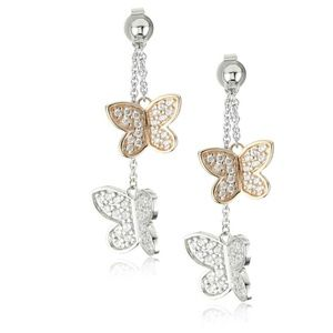 Esprit Rose Butterfly Earrings